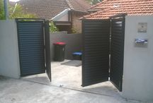 Bi-Fold Gates Others / Automatic Bi-fold gates are the perfect solution where you have limited or restricted space. Only taking up half the space of a normal swing gate.- Most gate designs can be incorporated to a bi-fold. - Here are some examples from us and others. - Like One? - Ask if we are able to make it for you!