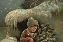 Vintage card vinter/jul