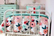Pink & Aqua Nursery Decor