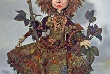 """Witches / Just in time for Halloween!  I love making witches.  The seasonal witches are from my Seasons of the Witch pattern and are about 16"""" tall.  The other witches are just because...."""