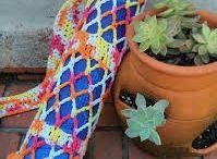 crochet yoga bag