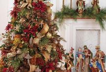 Christmas Trees, Wreaths, Flowers, and Doors