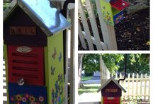 Children's Mail Box / Letter box at Grandma's waiting for child before moving door. / by Ell Henry