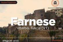 INVASIONI DIGITALI 2014 / #invasionidigitali 2014 #liberiamolacultura Invadiamo #Farnese splendido borgo medioevale della #Tuscia Appuntamento ore 10.30 nella piazza principale di fronte alla chiesa parrocchiale.