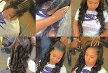 Weave sew in