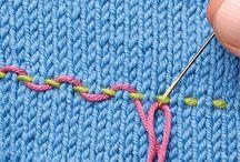 Puntos / Puntos en crochet y dos agujas / by Eugenia Juarez