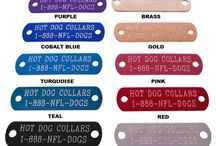 Name Plate Dog Collars / Custom Leather and Urethane Dog Collars With Name Plates