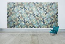 Geometric Blends / Mix and match the BAUX Acoustic Triangle, Rectangle, Paralellogram and Square. The creative variations are endless!