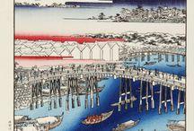 Utagawa Hiroshige - One hundred Famous View of Edo / Utagawa Hiroshige - One hundred Famous View of Edo Japanese traditional Woodblock prints