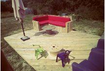 Garden tent and deck