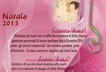 Con il Nastro Rosa - a sostegno delle madri sole / Pin solidali :)