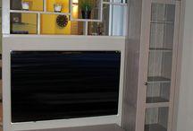 Cloison TV sur mesure / Idée de cloison TV en bois sur mesure