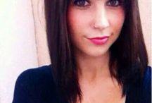 Brown hair with bang
