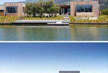 Dieses Moderne Haus In Kalifornien Wurde Mit Einem Hot-Whirlpool Neben Einer Lagune Entwickelt.