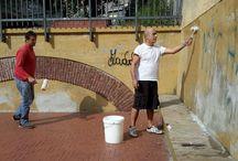 murales nel quartiere del lagaccio , Genova 11/9/2015 di Nicola Soriani e Enzo Dente