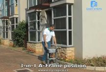 Easy Steps Adjustable Ladders / Easy to store and easy to transport.  Ideal for use in trade and DIY situations.
