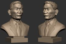 Oldman - 3D Printing / A portrait for 3D printing we did for a customer in Viet Nam.  Title: Old man  Modeling & Sculpting by D'sculpt Studio & Tran Huy Bang  Software: 3Ds Max, Zbrush,
