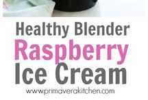 Ice cream rasberry blender