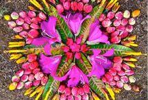 Мандала в виде цветка