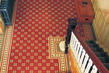 Victorian Floor Tiles - Authentic Patterns / These traditional geometric patterns are mostly applied to hallways and areas at the bottom of staircases because their true beauty is better admired from overhead.