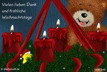 Dankkarten für Weihnachten / Danke für erhaltene Weihnachtskarten