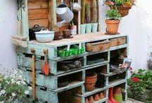 """home made garden table """"pallettes"""""""