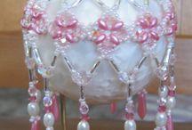 Christmas balls beaded