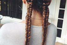 Bradded hairstyles