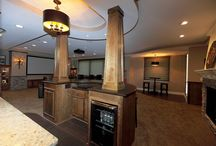 Custom Home Bars / Lecy Bros. Homes of Minnesota specializes in basement remodels and often builds these custom home bars to complete an ultimate man cave space!
