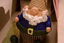 Christmas cookie and cupcake