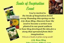 Seeds of Inspiration Spring Event / Ever wonder what inspired an author to become a writer or sparked an idea for that story you loved to read? Learn more about your favorite author and meet new authors and discover what inspired them. Win their books too. Every Thursday this spring.