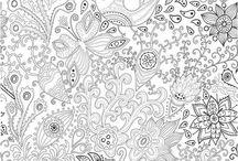 Tableaux de coloriage / Des images à colorier pour exercer sa créativité et se vider l'esprit! / by Magazine Châtelaine