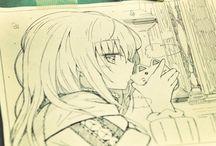 rysunki anime
