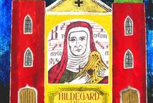 St.Hildegard of Bingen / Hildegard was an extraordinary 12th century Benedictine abbess, mystic, visionary, prophet and polymath known for her work as a writer, philosopher, composer, poet, playwright, linguist, scientist, physician and more. One of the most remarkable women of the Middle Ages.