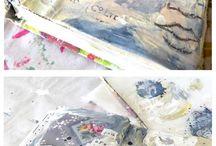 Mixed Media - Art Journaling / Art journaling with mixed media. acrylic paint | watercolors | oil sticks | marker pens