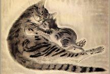 Art pictural (Léonard-Tsuguharu Foujita) / Animalier (chats...)