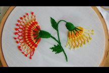 Bordado a mano la flor