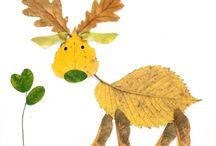 Animales con hojas