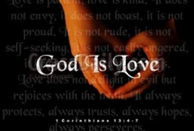 "God is love & God is so great ! / For God so loved the world, that he gave his one and only Son - that  "" whoever "" believes IN HIM - may have  ""eternal life !  (John 3:6)"