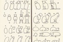 How to draw; Animals / Anyone can post! I would love to see how you draw cats!