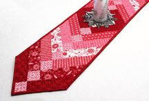 Patchwork Table Runner Red