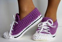 sapatos em croché pra adultos