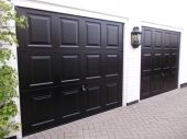 Steel Up & Over Garage Doors / Up and over garage doors are one of the most common garage door types we sell. They fall into two main categories depending on types of operating mechanism they use – canopy or retractable.