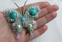Бабочки бисер
