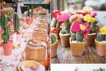 Kaktusz esküvői dekor