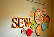 Sewing spaces / by Pretty Bobbins Quilting