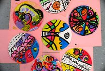 Polka dot Spot Circle art craft class