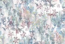 Upperlands Collection - Airmid / Airmid is a Goddess of healing in Irish folklore. This contemporary floral print depicts the plant Self Heal which blooms in late Summer and has long been used medicinally for healing. The Upperlands area thrives on water brought by the river Clady and the often damp conditions experienced in Mid Ulster give host to a huge variety of plant life including this healing wild flower.