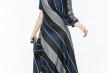АГ_002Платье ассиметричное широкая полоса серо-т.сине-черная