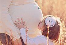sesja ciazowa mama i dziecko